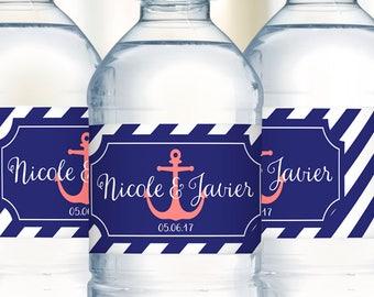 Water Bottle Labels, Wedding Welcome Bag, Waterproof Labels, Personalized Labels, Wedding Stickers, Destination Wedding, Wedding Favor Label