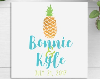 Wedding Favor Tags, Wedding Bag Tags, Gift Tags, Pineapple Wedding Tags, Destination Weddings, Tropical Weddings, Hotel Wedding Welcome Bags