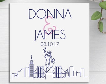 Welcome Bag Tags, NYC Skyline, Wedding Welcome Bags, Wedding Favor Tags, Destination Wedding, NYC Wedding, Thank You Tags, New York City
