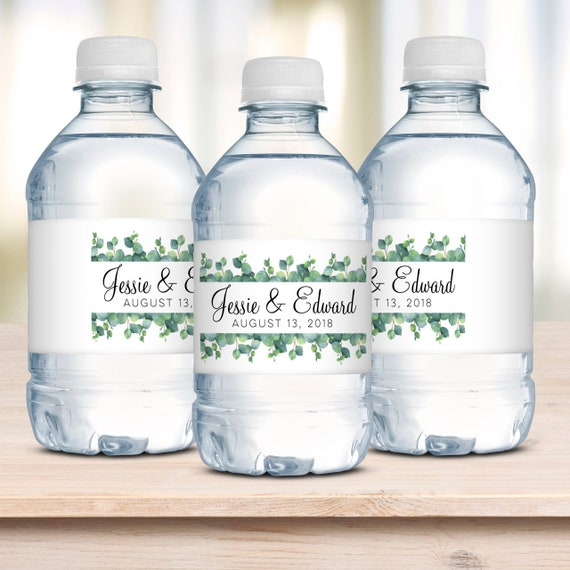 water bottles labels for wedding