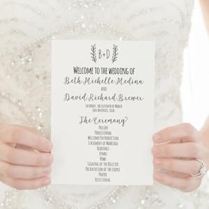 Wedding Programs Printed Programs Wedding Ceremony Programs Etsy