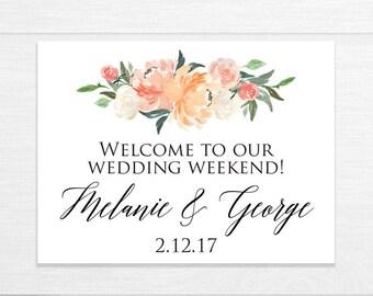 Wedding Welcome Box Stickers, Wedding Bag Labels, Welcome Bag Labels, Destination Weddings, Wedding Favor Stickers, Garden Party Wedding