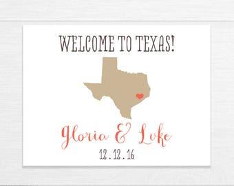 Wedding Welcome Bag Labels, Destination Wedding, Wedding Welcome Box Labels, Bag Stickers, Wedding Sticker, Wedding Favor Labels, Texas