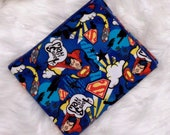 Superman Baby Blanket - Super Hero Character Swaddle Blanket - Baby Flannel Blanket - Baby Photo Prop - Baby Bedding - Super Hero Nursery