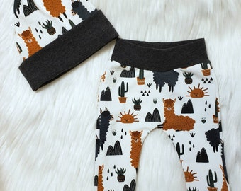 Cactus Baby Leggings  Cactus Baby  Baby Leggings  Modern Baby Theme  Baby Harem Pants  Chic Baby Theme  Baby Girl Gift