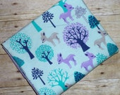 Deer Baby Blanket - Trees Swaddle Blanket - Woodland Flannel Blanket - Baby Photo Prop - Baby Girl Woodland Nursery