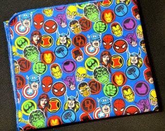 Spiderman Baby Blanket - Hulk and Ironman Flannel Swaddle - Marvel Comics Receiving Blanket - Baby Photo Prop -  Superhero Character Nursery