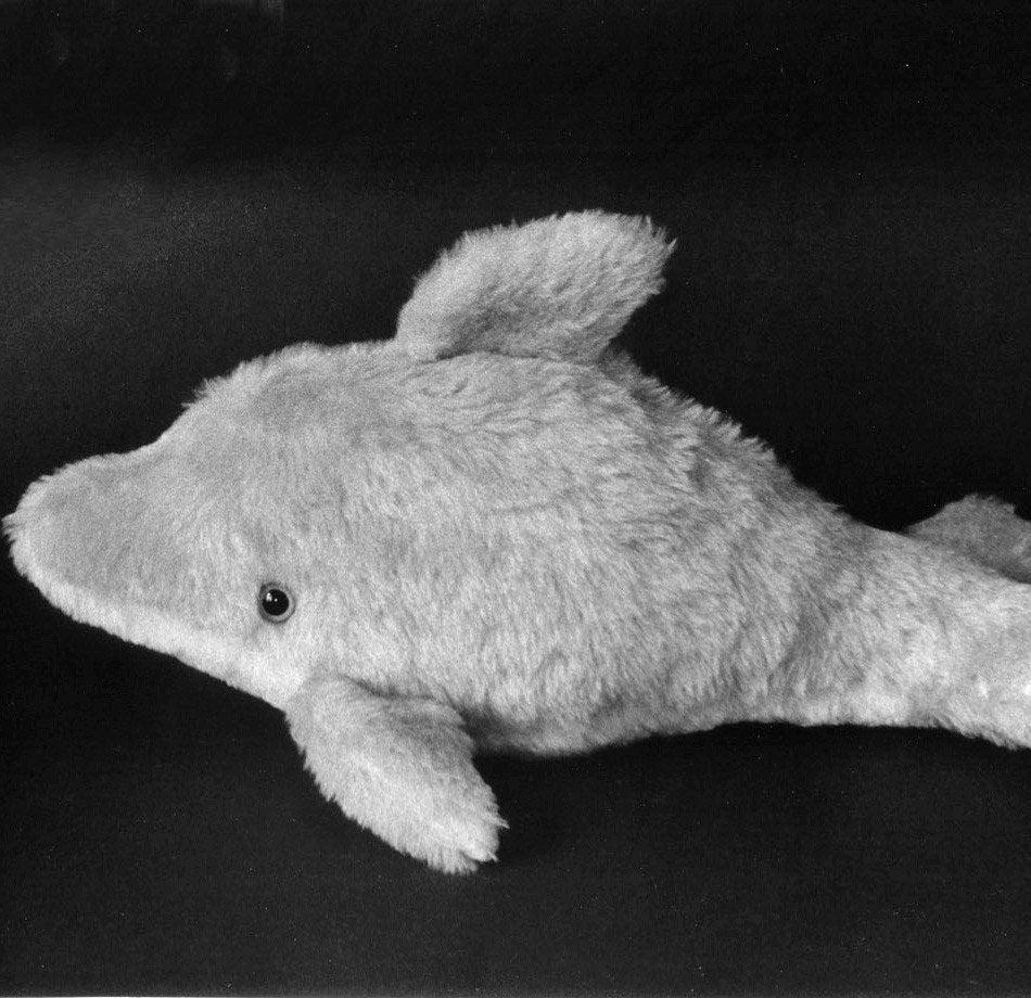 Schnittmuster für ein Baby-Delphin-weiches Spielzeug gefüllt