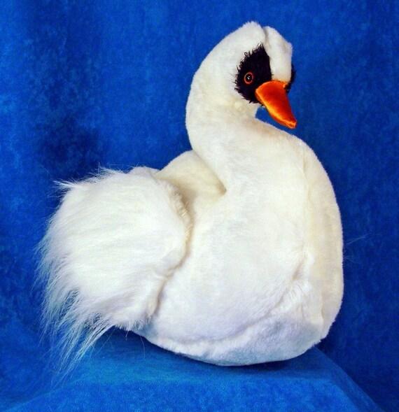 Coser el patrón para hacer un cisne pequeño relleno de peluche | Etsy