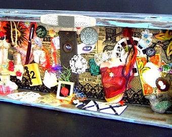 OOAK altered art assemblage diorama shadow box