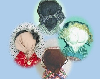 CUSTOM MADE: Doll, homespun ethnic and holiday handcrafted repurposed