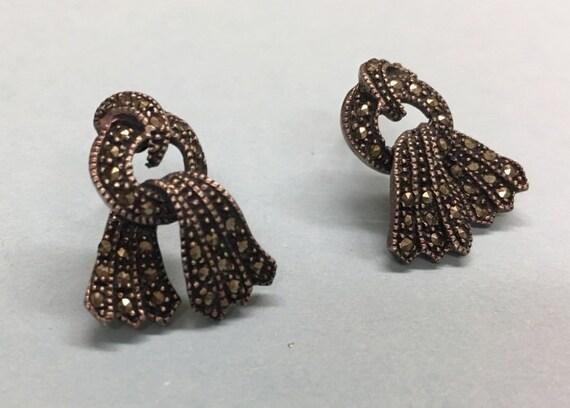 Vintage Markasit Drapiert Durchbohrt Ohrringe Bildohrringe Und Sterling Silber torhdsQCxB