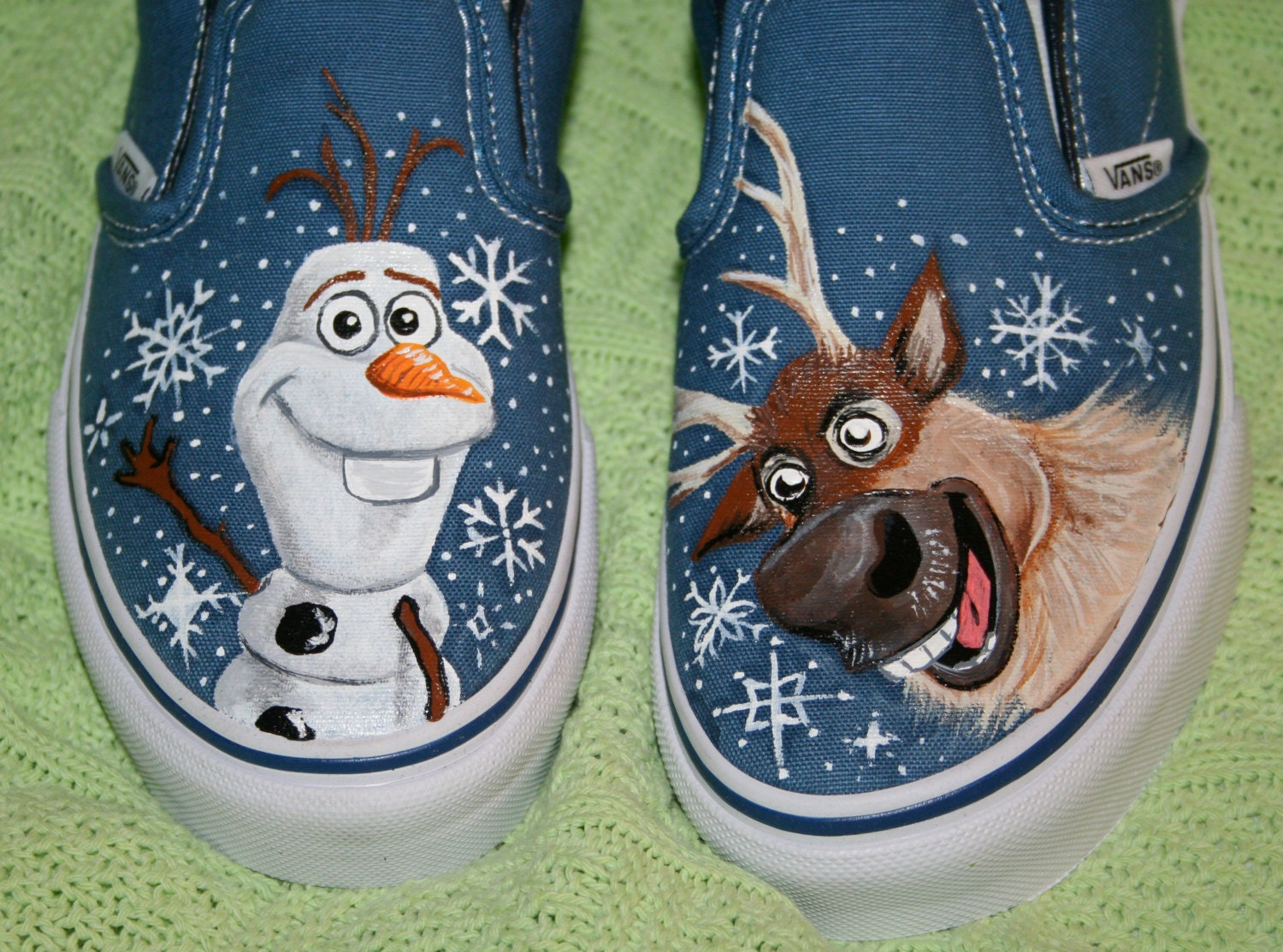 2423edc9cce Boy s Custom Painted FROZEN Inspired VANS Shoes Any Size