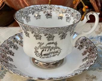 Vintage Royal Albert Happy Anniversary Teacup