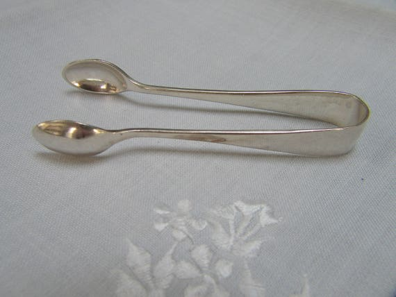 Silver Plate Sugar Tongs from England