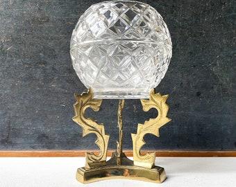 Vintage Brass and Glass Cangle Holder, Votive Candleholder, Tealight