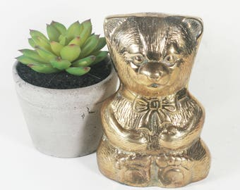 Vintage Brass Bear Figurine