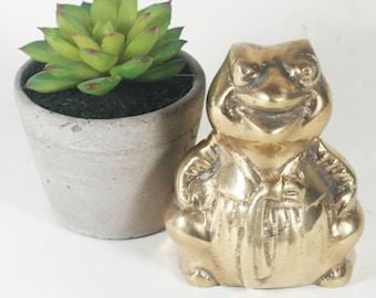 Vintage Brass Mr. Toad Figurine