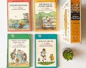 A Treasury of Winnie the Pooh, A.A. Milne Book Set, Vintage 1971 Yearling Books Box Set, Hundred Acre Woods Stories