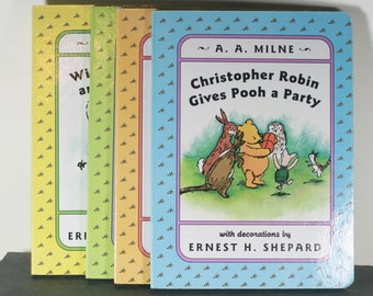 Vintage Winnie The Pooh Board Books, Set of 4, 1995 Publication