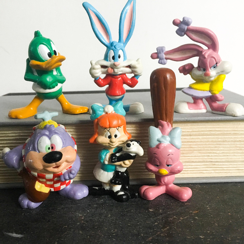 Animaniacs Elmyra Duff tiny toons figurines, vintage looney toons collectible, buster bunny, babs  bunny, plucky duck, elmyra duff, dizzy devil, animaniacs