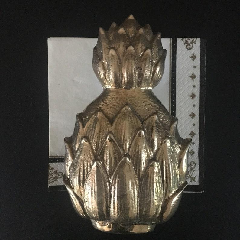 Brass Napkin Holder Vintage Office Decor Vintage Kitchen Decor Pineapple Letter Sorter