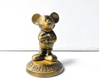 Vintage Walt Disney Productions Mickey Mouse statue