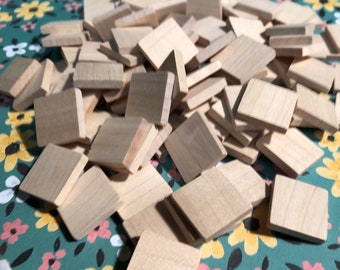 20mm Square Wooden Tiles in Maple - lot of 20
