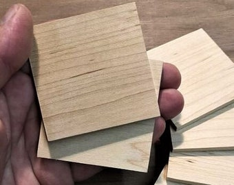"""Large Square Wooden Tiles - 2 1/2"""" (set of 10)"""