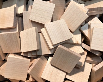 20mm x 15mm Wooden Tiles - Dollhouse Book Blanks - lot of 40