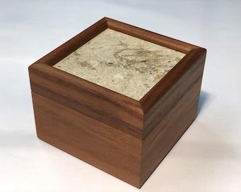 Walnut and Quartz Stash Box