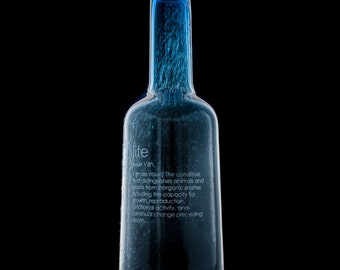 Bottle #1 LIFE (blue)