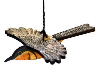 Eastern Spinebill Mobile, Hand Printed Wooden Lino Printed Hanging Bird,