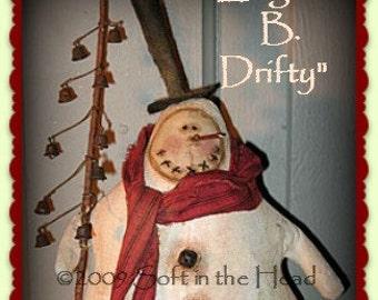 Edgar B. Drifty Snowman E-Pattern
