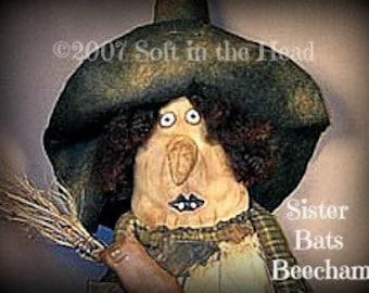 Sister Bats Beecham Witch E-Pattern