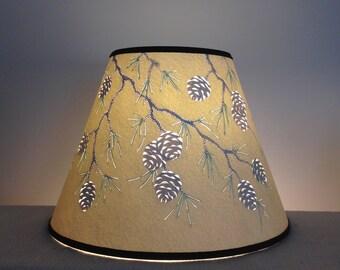 Painted lamp shade etsy aloadofball Gallery