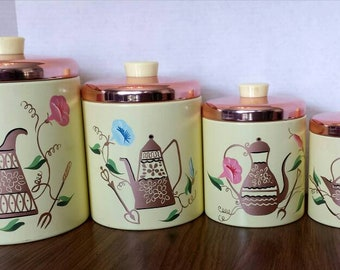Set 4 Ransburg Canister Set Excellent Condition