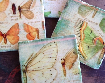 Breath Of Spring Coasters   Stone Coasters   Immediate Shipping