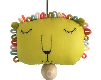musical pull string crib toy lion