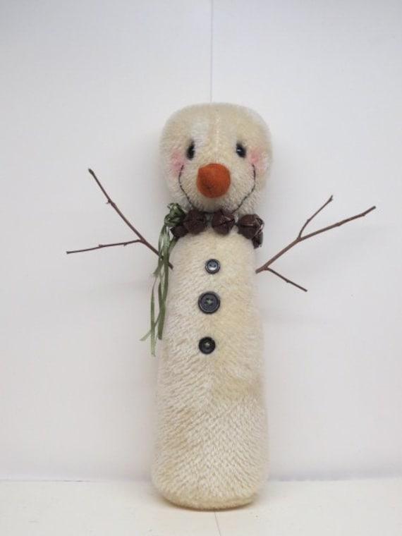 Artist Bear Mohair Whimsical Snowman Teddy Bear Christmas | Etsy
