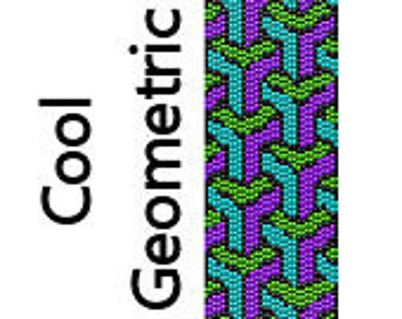 Peyote Bracelet Pattern Cool Geometric Shapes Stack Instant image 0