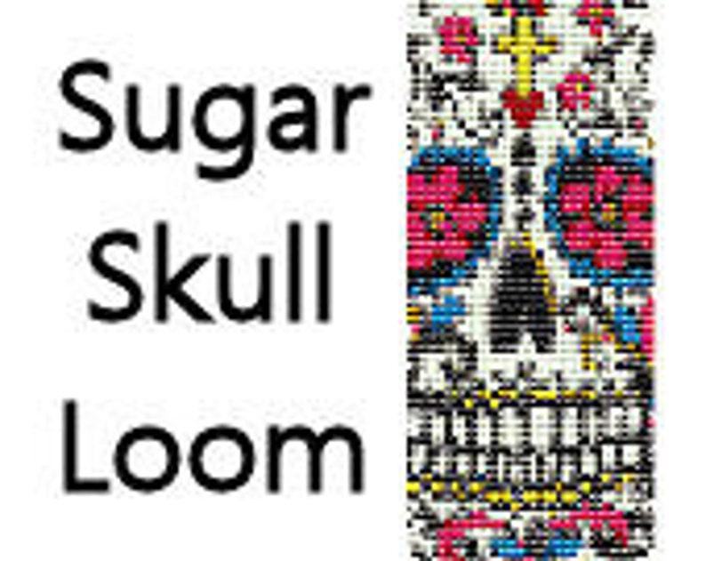 Bead Loom Pattern Sugar Skull Pattern Loom Bracelet Pattern image 0