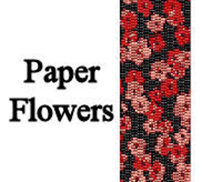Peyote Pattern Japanese Paper Flowers Inspired Beaded Peyote image 0