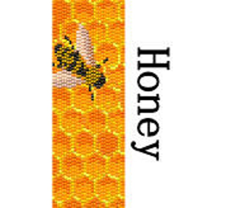 Peyote Bracelet Pattern Honey Bee Mine Bumble Bee Nature image 0
