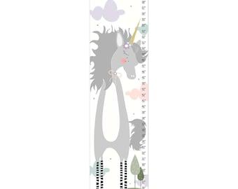 Personalized Unicorn Growth Chart ,Growth Chart, Nursery Decor, Custom Canvas Growth Chart