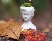 Head Planter, Victorian Decor, Cement, Concrete, Cameo, Bust, Plant Holder, Home Decor, Forest Goddess