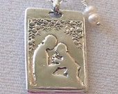Sale - Mother and Child Necklace