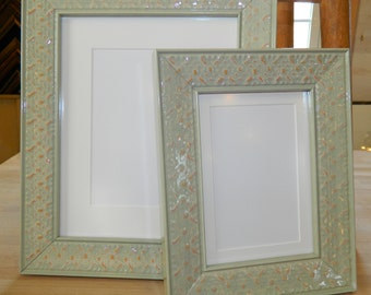 10 X 12 Picture Frame Light Green Wasabi Wood Etsy