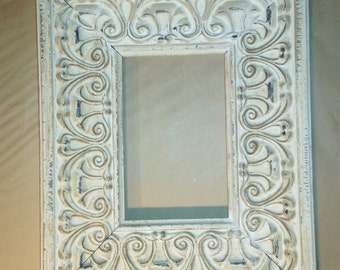 White Washed Shabby Chic French Country Picture Frame 4 x 6""