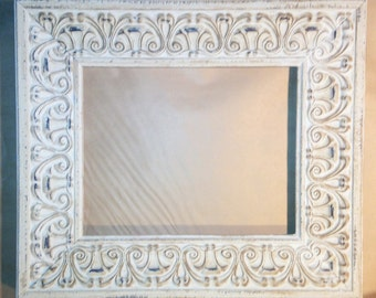 White Washed Shabby Chic French Country Picture Frame 8 x 10""